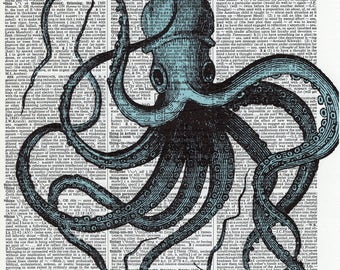 Upcycled Octopus Print