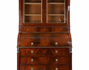 Rare French Empire Cylindrical Secretary Desk by Jean-Joseph Chapuis c. 1805, 510ZNP31S