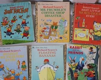 Richard Scarry's Little Golden Book Lot