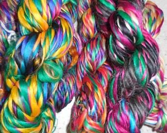 40 to 50 Yards,   Thrum Silk Yarn,  Fair Trade from Nepal