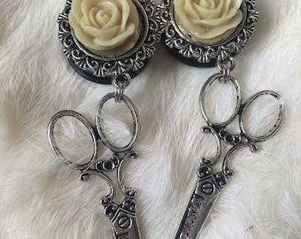 Rose dangle plugs