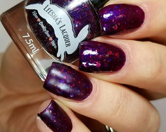 Purple Jelly Nail Polish, Glitter Nail Polish - Meteor Shower  - Jelly's from Outer Space II Collection