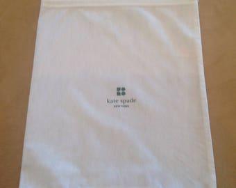 Kate Spade Dust Cover, Drawstring Bag, White, Small