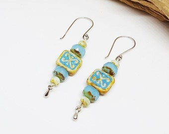 Blue Bohochic Earrings - Holiday Gift Ideas - Blue Earrings - Bohochic Earrings