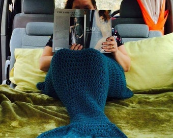 Adults and Children's Mermaid Tail Blanket- Mermaid blanket- Birthday party favours - Christmas gift- sleep overs- Hen night favours
