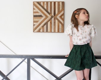 The cutest green Girls culottes shorts