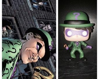 "Custom Funko Pop: The Riddler from ""Batman"" and DC Comics"