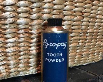 Vintage Pycopay Tooth Powder 1948