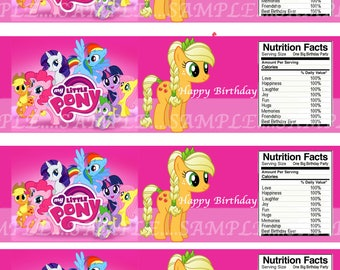 INSTANT Download!!! My Little Pony  Water Bottle Labels- Digital File.