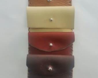 Leather Mini Wallet, Leather Minimal Wallet, Leather Pocket Wallet, Small Pocket Wallet, Mini Pocket Wallet, Business Card Case, Card Holder