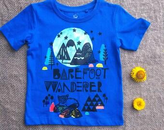 Barefoot Wanderer Organic T Shirt. Size 1