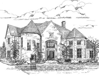 """18"""" X 24"""" pen and Ink drawing.  Largest size available.  Fantastic and awesome piece of original, signed, piece of art"""