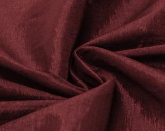 Burgundy Iridescent Stretch Taffeta Fabric by Yard - Style 1501