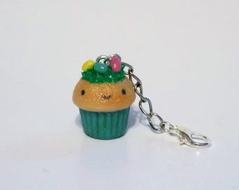 Polymer Clay Easter Egg Hunt Cupcake