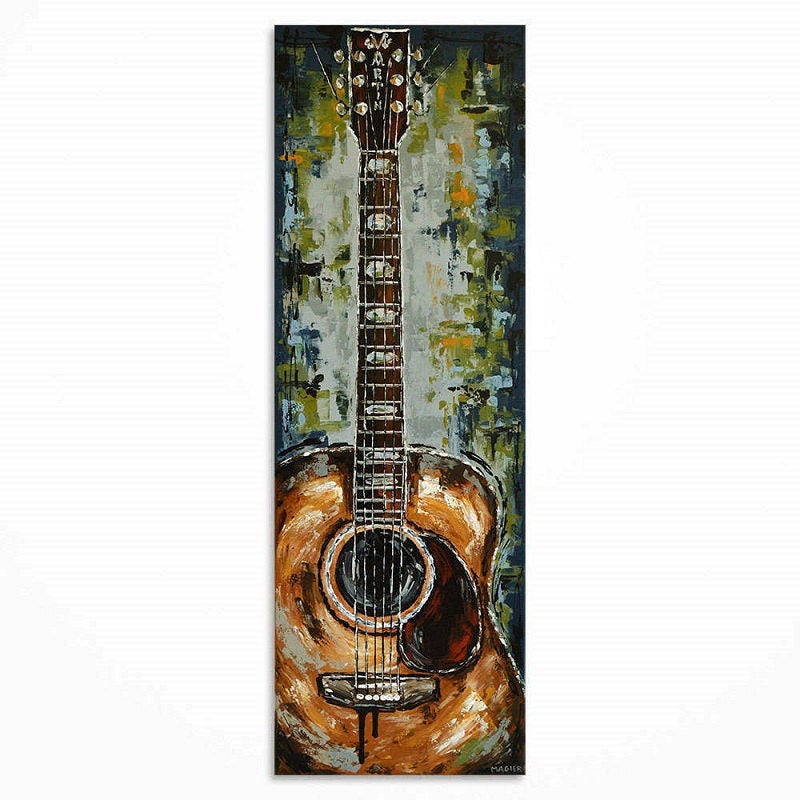 peinture de guitare guitare art cadeau pour un musicien la. Black Bedroom Furniture Sets. Home Design Ideas