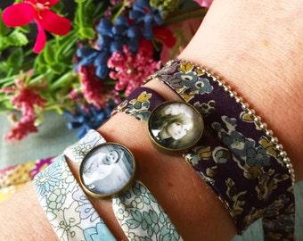 14mm Custom Photo Charm Bracelet, Personalized Photo Jewelry, Family Photo Charm, Liberty Bracelet, Liberty Wrap, Gift for Her, Mom, Nan