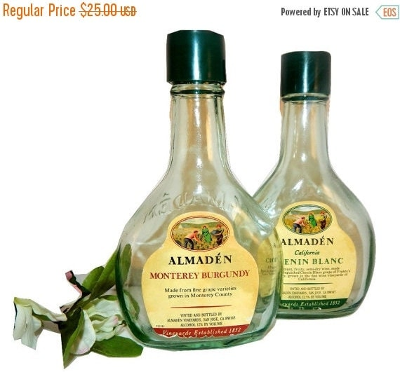 Wine Bottle Salt And Pepper Shakers Vintage By TKSPRINGTHINGS