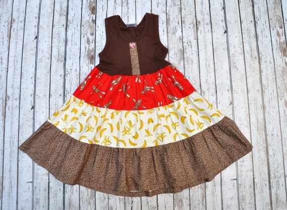 Sock Monkey Tier Dress 2/3
