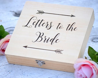 Letters to the Bride Box - Bridal Box - Gifts for the Bride - Anniversary Box - Love Letter Box - Keepsake Box - Grooms Gift - Engraved Box
