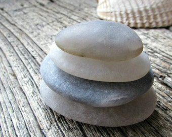Zen Stacking Stones - Beach Rocks - Zen Stones - Rock Cairn - Desktop Zen Garden Decor - Meditation Alter - Stress Relief Co Worker Gift