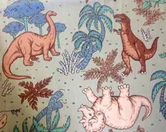 Dinosaur Dynasty by Fabric Country/Quilting Sewing Craft Fabric/Stegosaurus Triceratops Brachiosaurus Pterodactyl Tyrannosaurus Rex