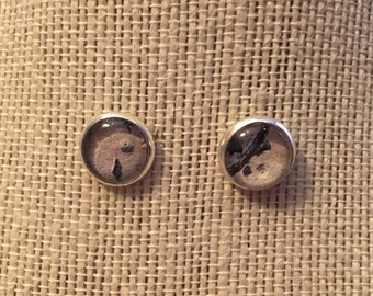 10mm Writing in the Sand Stud Earrings