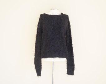 Vintage Fluffy Sweater / Vintage 90s Jumper