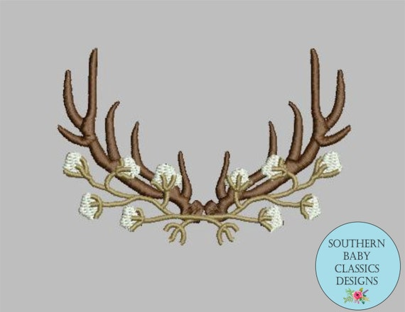antler cotton frame embroidery design for embroidery machine