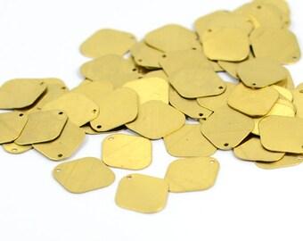 50 Pcs. Raw Brass 14x12 mm Geometric Brass Blanks  Findings