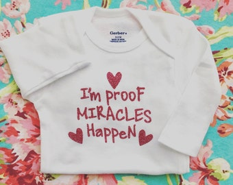 Miracle Baby, Newborn Onesie, Rainbow Baby, Baby Shower Gift,Take Home Outfit, Christian Saying Onesie, rainbow baby onesie, new baby onesie