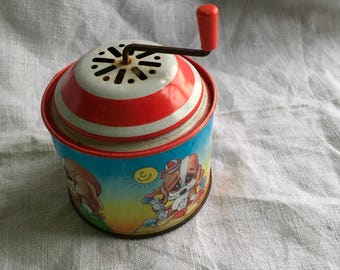 Vintage wind up musical toy