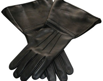 A Star Wars Costume Real Leather 501st Approved Gloves with Three Darts IN XS S M L XL