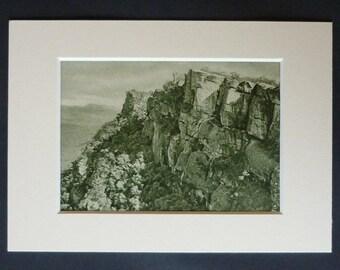 1920s Antique Grampians National Park Print of Mount William, Available Framed, Australia Art, Old Australian Gift, Mount Duwil Wall Art