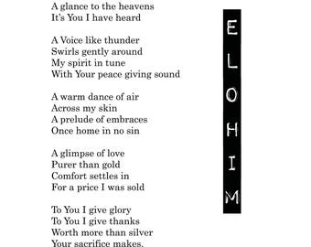 ELOHIM -  LIMITED**SIGNED**First Edition digital print