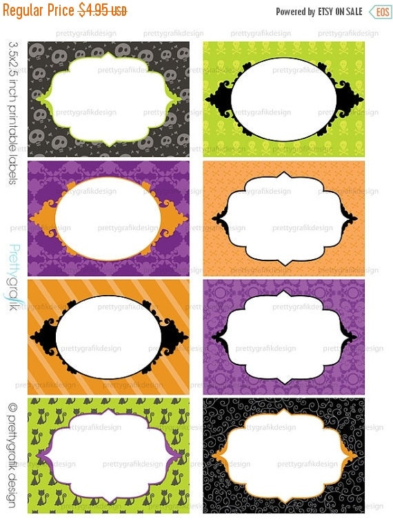 80 off sale halloween labels printable cards stickers With how to print off labels