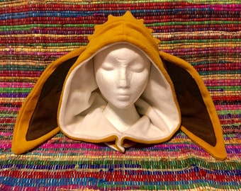 Fleece Pokemon Inspired Hood - Handmade Eevee Hat - Made to Order