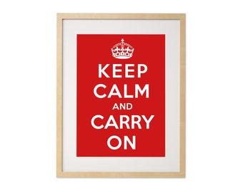 Fine art print · Keep calm and carry on · DIN A4