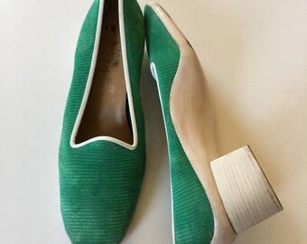 60s Mod Shoes by Rosina Ferragamo Schiavone - MOD Op Art Shoes - Twiggy 60s Brit Pop Designer Shoes