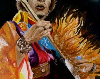 Jimi Hendrix Wall Art PRINT - Home Decor