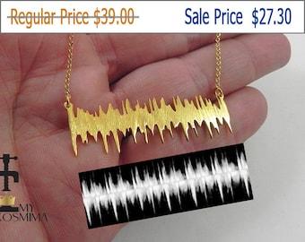 30% OFF - Actual heartbeat necklace, cardiogram necklace, baby heartbeat necklace, Heart sound wave necklace, heart sonogram ultrasound