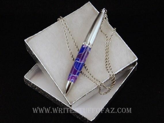 Pen Necklace in Purple & Lavender