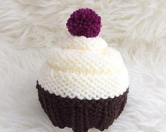 Cupcake baby hat newborn baby girl cute cake baby hat photo prop - newborn photographer newborn photo prop cake - babyshower gift