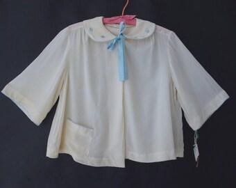 VTG Silk Bergdorf Goodman Lingerie Coat sz M