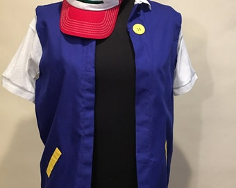 Boy's POKEMON Trainer - ASH Ketchum  Costume 2 pc   -  14/16 Cosplay
