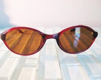 Ray Ban Sunglasses Round Frame Red 1980s Retro Sunglasses W3091