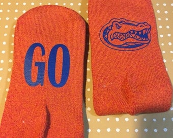 Go gators socks in orange UF SOCKS