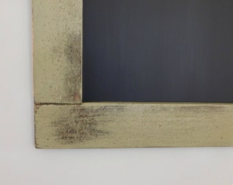Rustic Large Chalkboard Framed with Vintage Look Distressed Wood Shown in Sage 30 x 40 *MORE COLORS AVAILABLE*