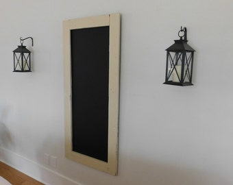 Extra Large Long Skinny Framed Chalkboard Hand Distressed Wood Shown in Cream 24 x 54 *MORE COLORS AVAILABLE*