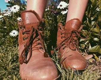 Vintage Tecnica Lace Up Hiking Boots