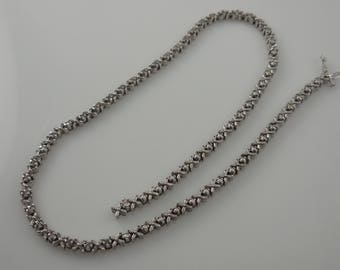 White Gold Necklace 10k White Gold  Diamond Cut Necklace